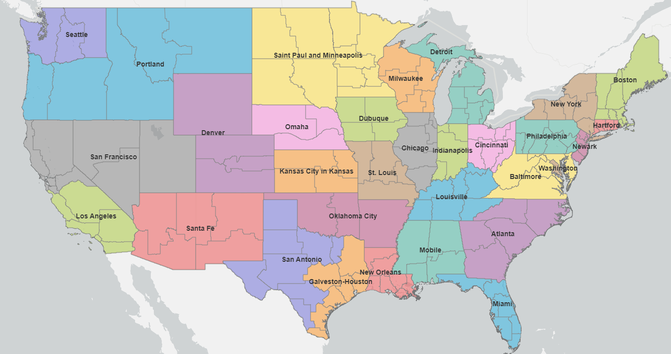 Map of the Ecclesiastical Provinces of the USA